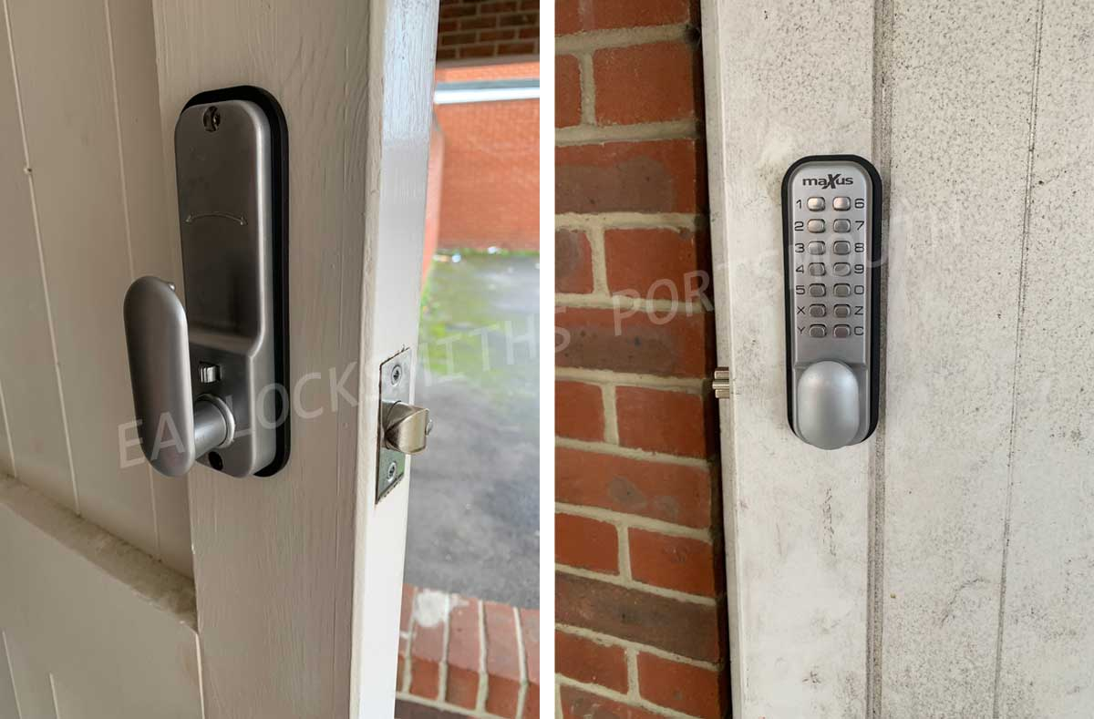 Fitting of a Maxus code lock in Portsmouth